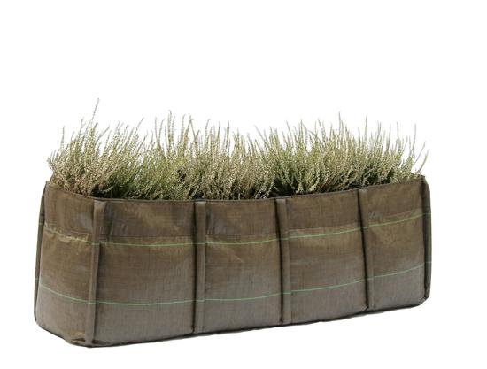 Inovação em cultivo de plantas, a BACSAC- desenvolveu os sacos em tecido permeável (tecnologia geotextil em nãotecido) para cultivo de plantas. Solução para criação de jardins sobre terraços em cidades.