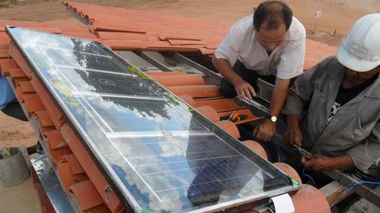 Placa Solar com Fibra de Coco